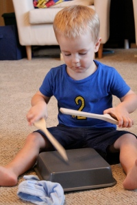 Lucas drumming