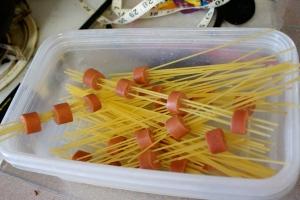 Spaghetti Hotdogs pre-boil
