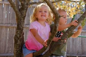 Kyla in a tree