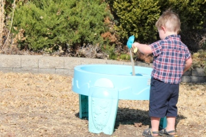 Sand in water table