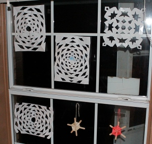 home made snowflakes