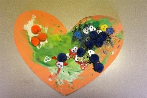 L's Finger Paint Heart