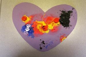 K's Finger Paint Heart