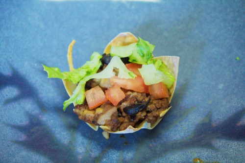 Finished taco cup
